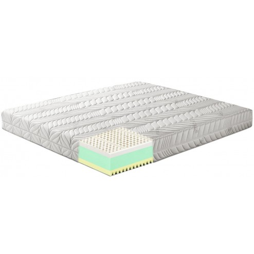 Materasso in Memory Foam ondulato e Lattice mod. Rubino