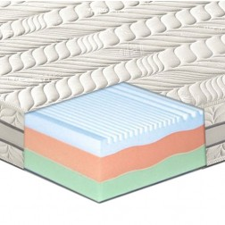 Materasso in memory Foam termico 3 strati e 7 zone differenziate mod. Albite