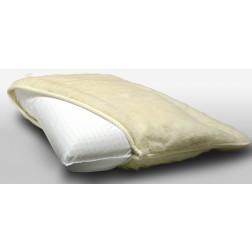 Cuscino in memory saponetta modello Helium con copertura in lana Merinos